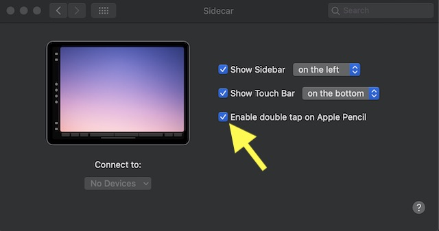 Enable:Disable Double Tap on Apple Pencil (2nd Generation)