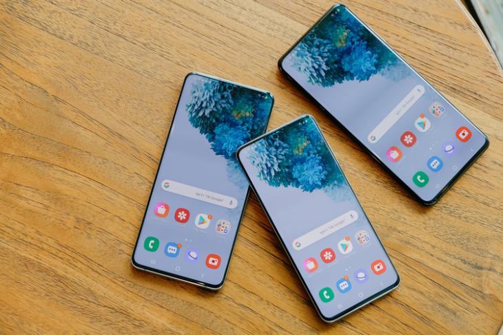 Galaxy S20 series lineup shutterstock website