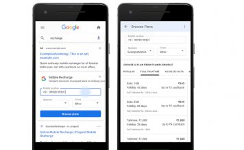Google search mobile recharge