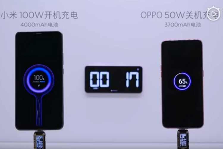 Lu Weibing reveals more details about Xiaomi's 100W fast charge technology