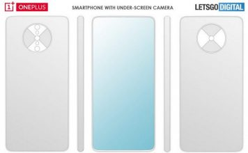 OnePlus under display camera patent website