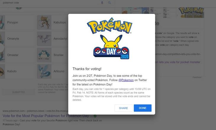 Pokemon vote feat