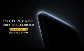 Realme X50 Pro 5G india launch set for February 24