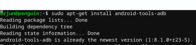 install adb on chrome os