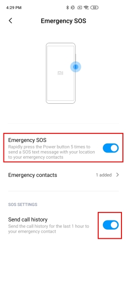 5. Emergency SOS