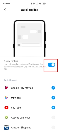 15. Quick Replies MIUI Settings You Should Change