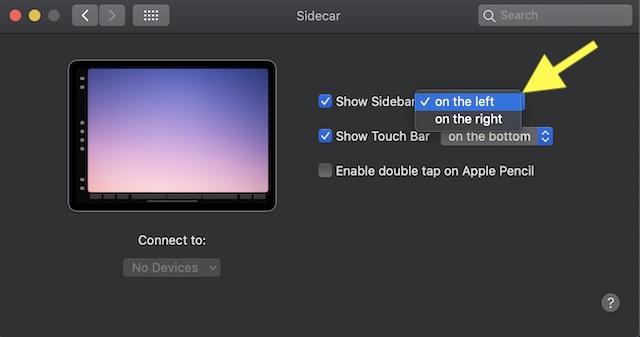 Show hide sidebar on iPad