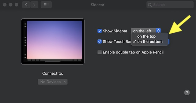 Show:hide touch bar on Mac