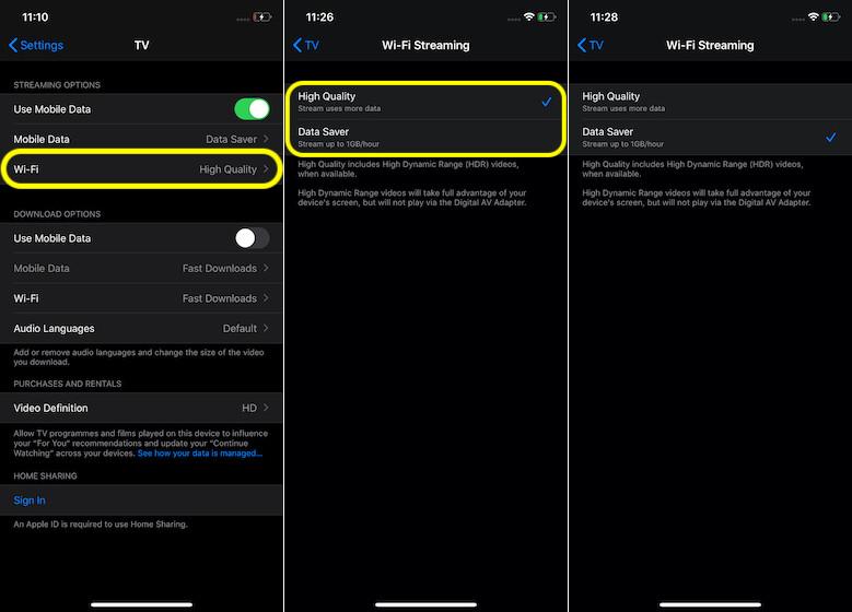 Customize Wi-Fi Streaming