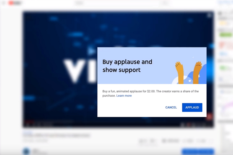 YouTube Introduces Applause Button to Donate to Your Favorite Creators