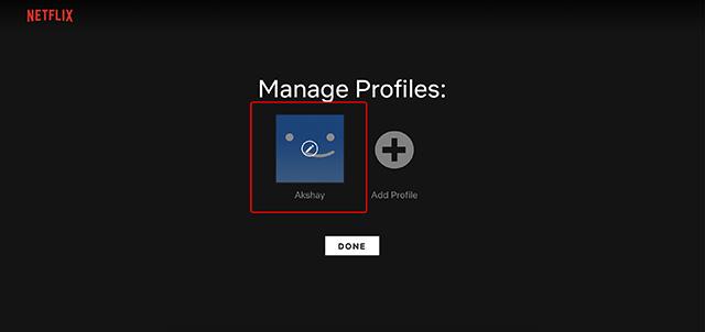 choose netflix profile to edit