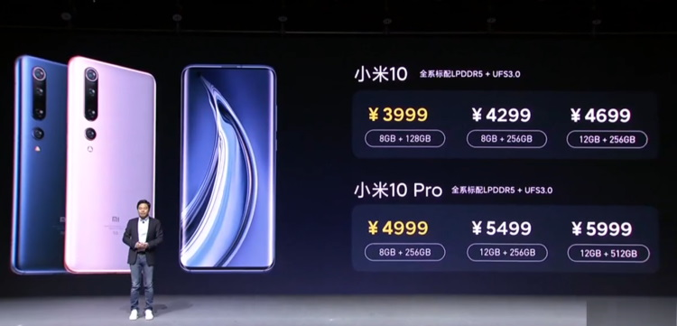 mi 10 and mi pro price and availability
