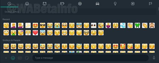 whatsapp desktop emoji picker