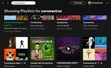 Coronavirus playlists feat.