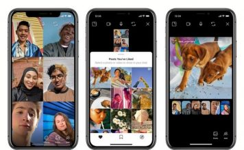 Instagram browse posts with friends over video call