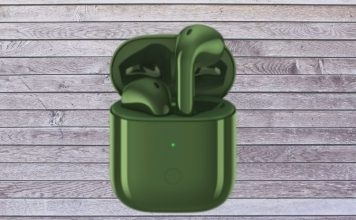 Realme Buds Air - olive green color