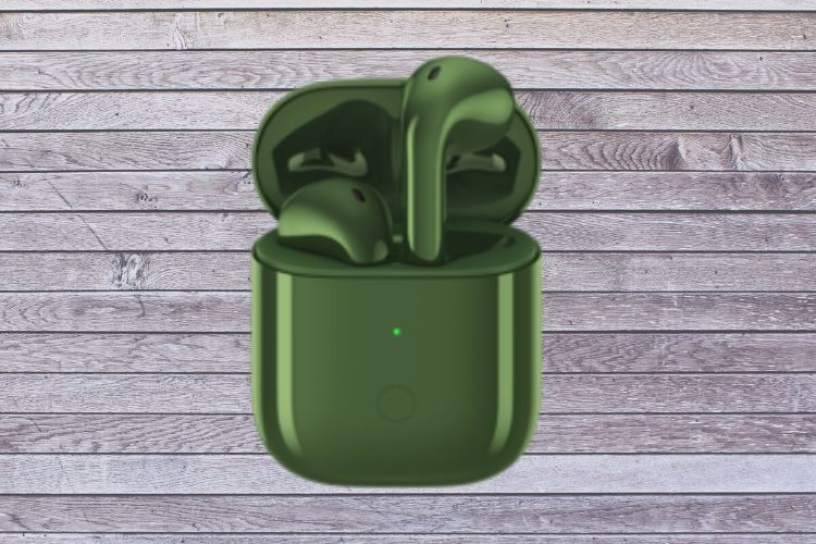 Realme Buds Air olive green color