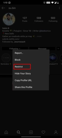 1. Use Restrict Feature