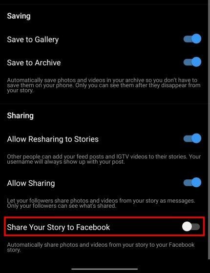 2. Share Instagram Story to Facebook