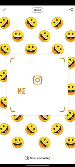 6. Share Instagram Profile using Nametag