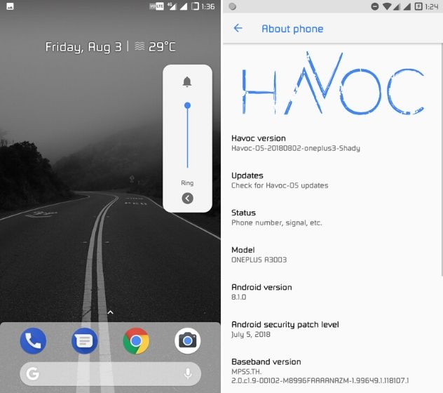 6. Havoc-OS Best Custom ROMs for Android (Updated February 2021)