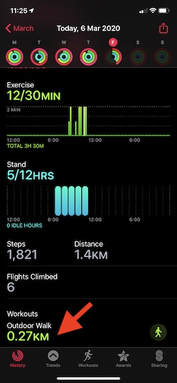 View HRR data in the Activity app on iPhone