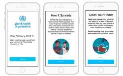 WHO coronavirus app website