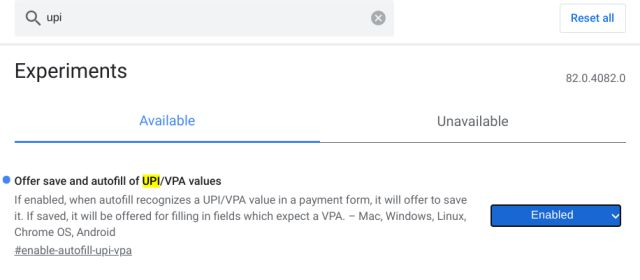 6. UPI/VPA Values