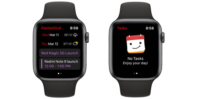fantastical apple watch calendar app