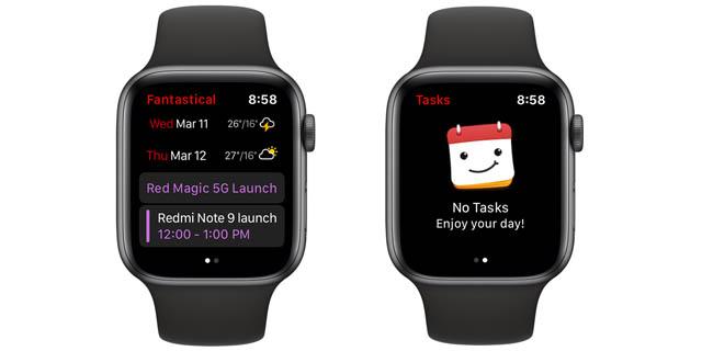 fantastical apple watch calendar app