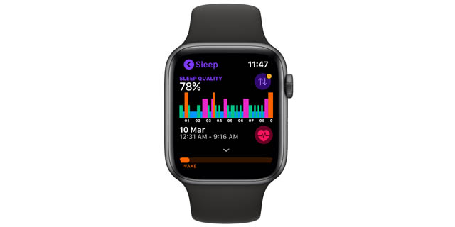 pillow apple watch sleep tracking app