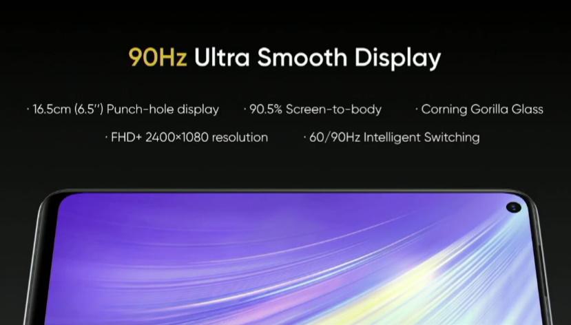 realme 6 display - cameras