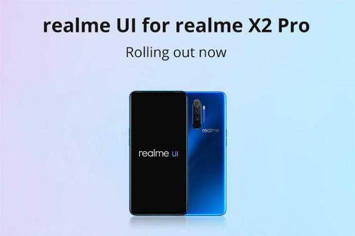 realme x2 pro realme ui stable rollout