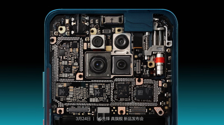 redmi k30 pro internals - stacked PCB
