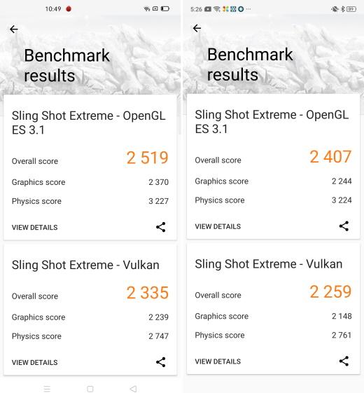 3DMark - snapdragon 730G vs Snapdragon 720G