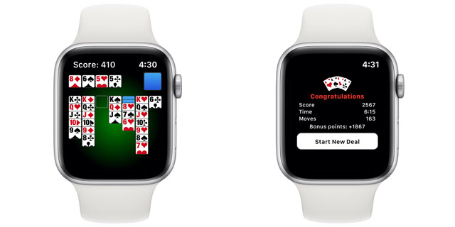 best apple watch card games solitaire