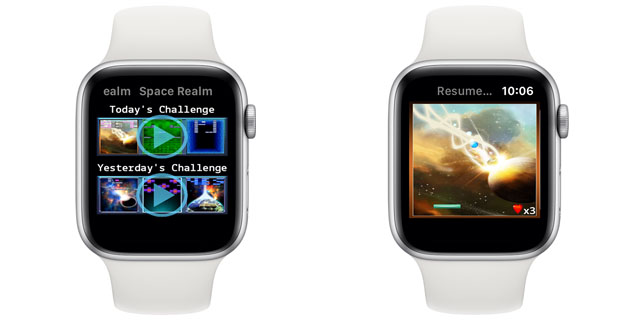 space buster x apple watch game