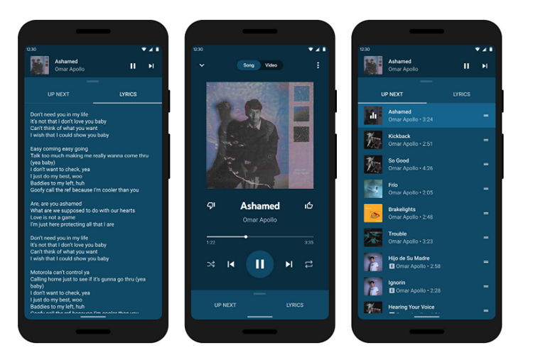 youtube music redesign