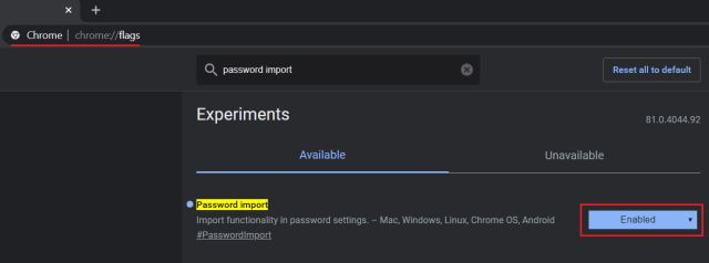 Import Passwords to Chrome from CSV