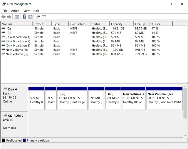 10. Windows Disk Management