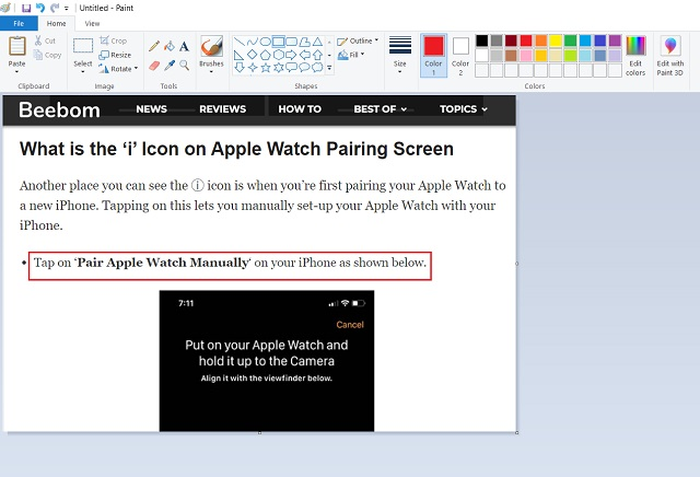 6. Microsoft Paint