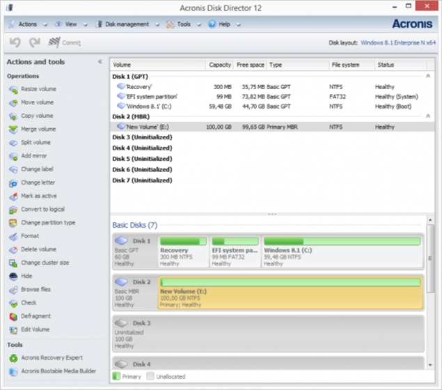 7. Acronis Disk Director