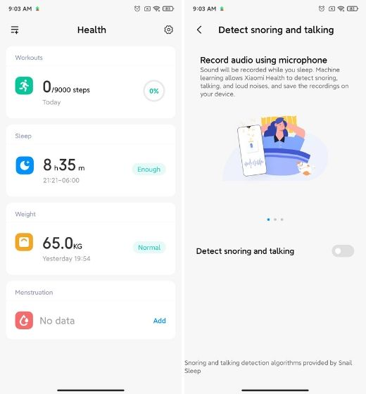 15. New Health App Best MIUI 12 Features