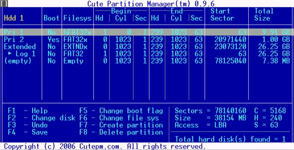 8. Cute Partition Manager - Free Partition Software