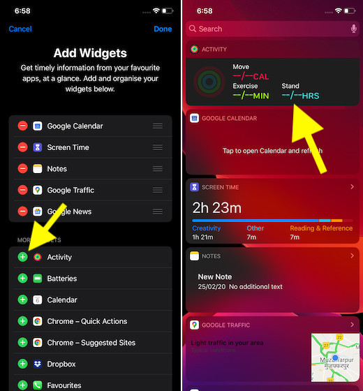 Activity Widget for iOS