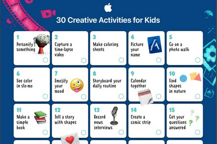 Apple Releases Fun Activity Sheet To Keep Kids Productive Beebom