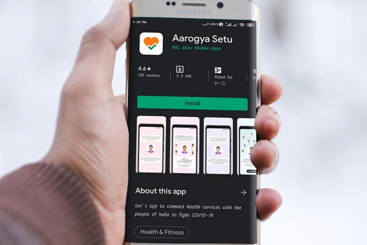 Arogya Setu smartmockups website