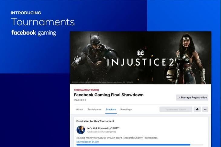 Facebook Gaming Adds Tournaments to Organize Matches