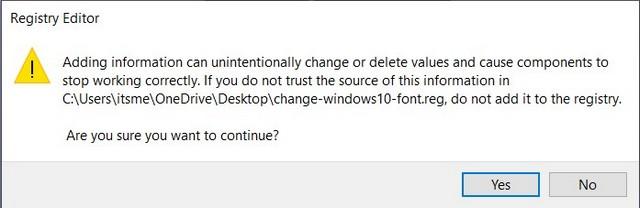 Font change 2
