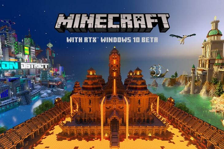 Minecraft with RTX launch announcement website
